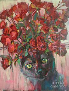 Painting - Red Roses by Kimberly Santini