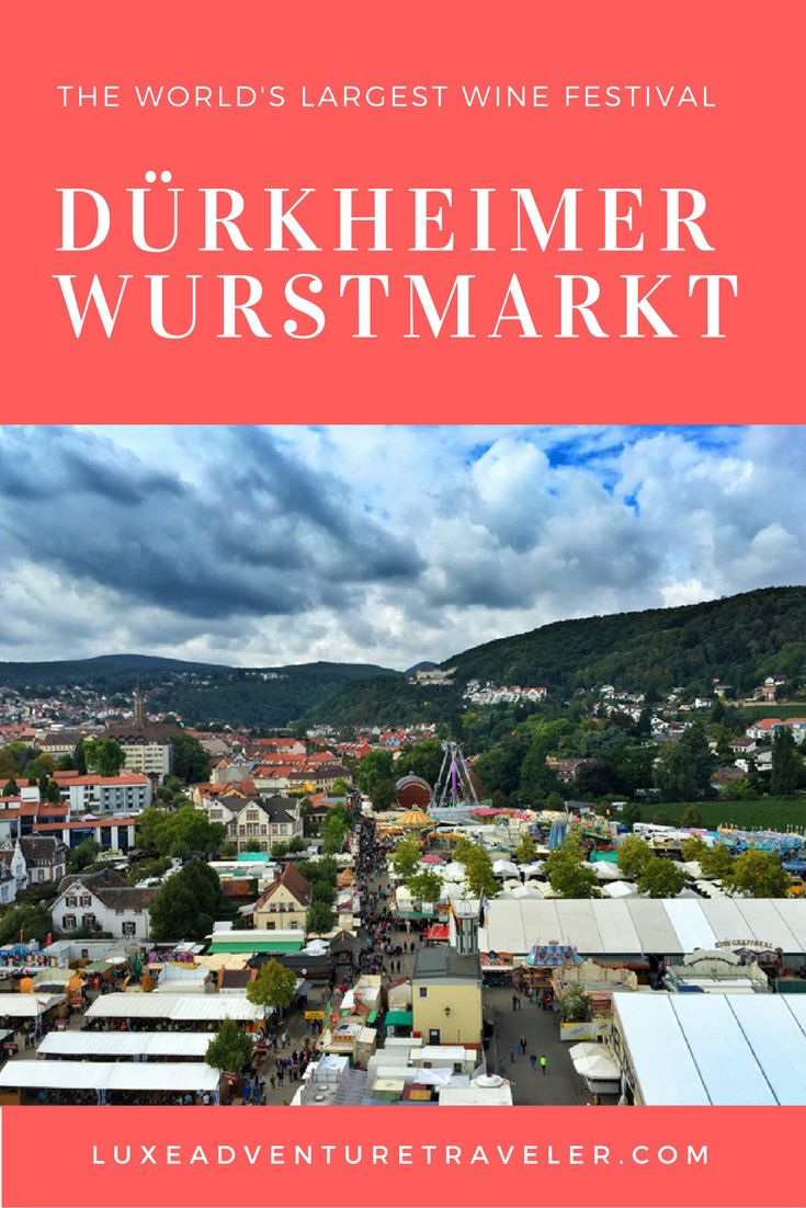 Dürkheimer Wurstmarkt: The World's Largest Wine Festival in Bad Dürkheim, #Germany @germanytourism