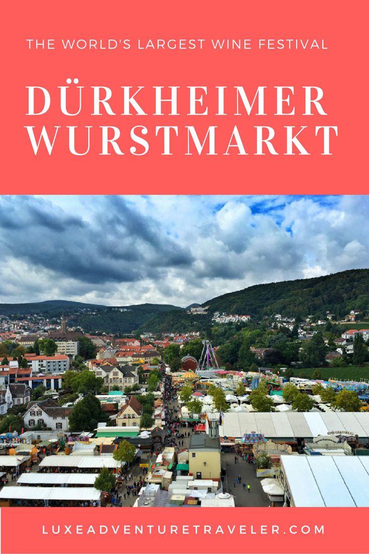 Dürkheimer Wurstmarkt: The World's Largest Wine Festival in Bad Dürkheim, #Germany @germanytourism