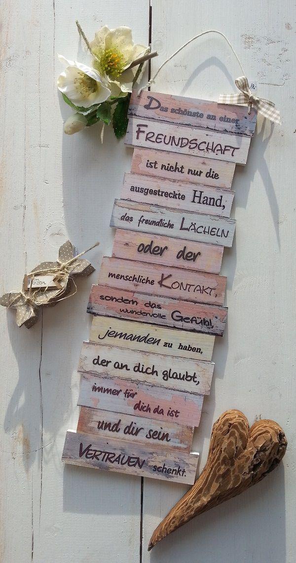 https://www.facebook.com/Puenktchenherz-1514083225528083/  und Besuch meinen Dawanda-Shop: http://de.dawanda.com/shop/Gifts-from-the-heart-by-Sunny  Dekoschild Freundschaft