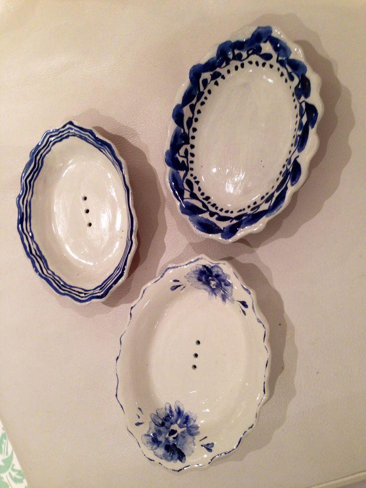 Codevilla Ceramics. Majolica soap dishes @ Potters Market Rondebosch 22 November.