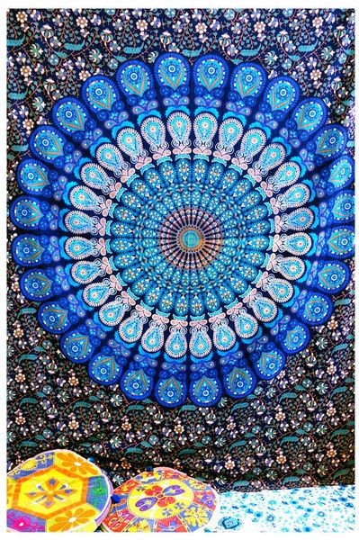 Rugs – Indian Mandala Tapestry Hippie Wall Hanging Mat  – a unique product by IndianCraftPalace on DaWanda