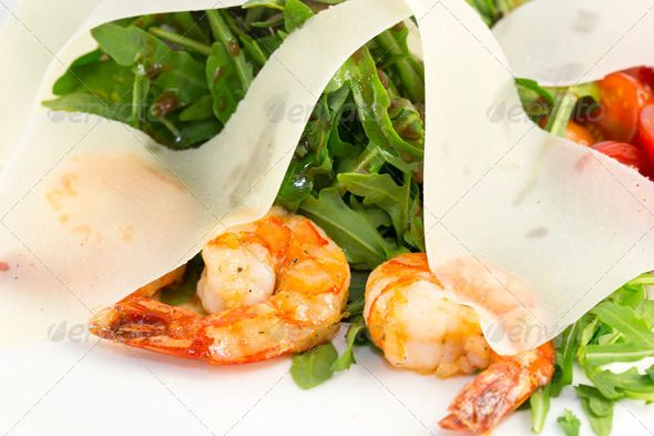 salad ...  Velvegetable, black, bright, crayfish, cucumber, cuisine, culinary, diet, dough, feed, fish, food, green, italian, job, king, leaves, lettuce, light, lobster, nutrition, oil, olives, recipe, red, restoraunt, salad, sauce, sea, seafood, shrimps, tasty, tomato, with