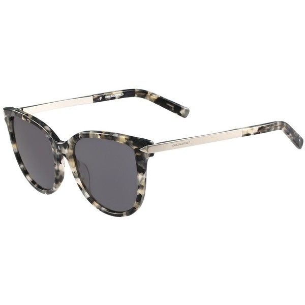 Karl Lagerfeld Women's Plastic Cat Eye Sunglasses (945 MXN) ❤ liked on Polyvore featuring accessories, eyewear, sunglasses, shiny grey marble, karl lagerfeld eyewear, cat eye sunnies, gradient glasses, karl lagerfeld glasses and marble sunglasses