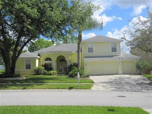 2908 Winding Trail Drive #Valrico, #FL 33596  WOW! Over 4100SF POOL home with 4 Bedrooms, 3 Baths, Office, 2 BONUS rooms and 3 Car Garage in the desirable Twin Lakes gated (night) community. The open and light floor plan by Sunrise Homes is perfect for entertaining large or small gatherings. Enter the home through the double beveled glass doors into the formal living and dining rooms which are accented by vaulted ceilings and crown molding. #Florida #RealEstate