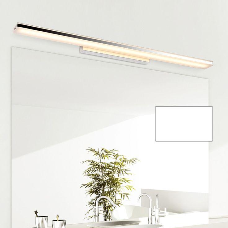 Modern 100cm Long Aluminum Bathroom Mirror Light Luminaria 85 265V 24W Led  Home Decor Lamp Over Mirror