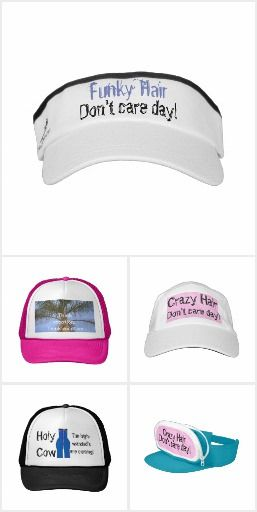Hats for Women & Men in fun themes and styles for bad hair days, basketball, humor, nature.  Original designs by TamiraZDesigns.