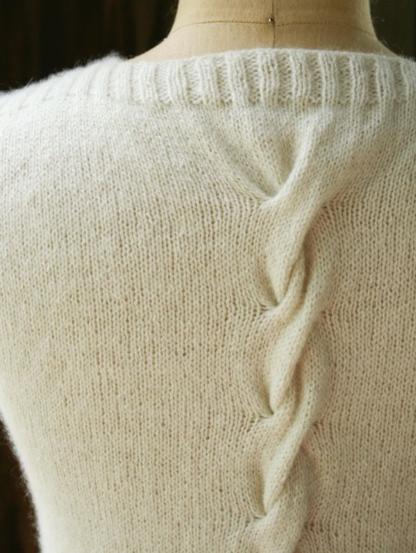 Cabled Back. Laura's Loop: Cable Back Shell - The Purl Bee