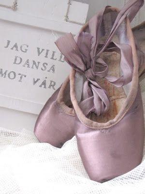 Purple Ballet Shoes