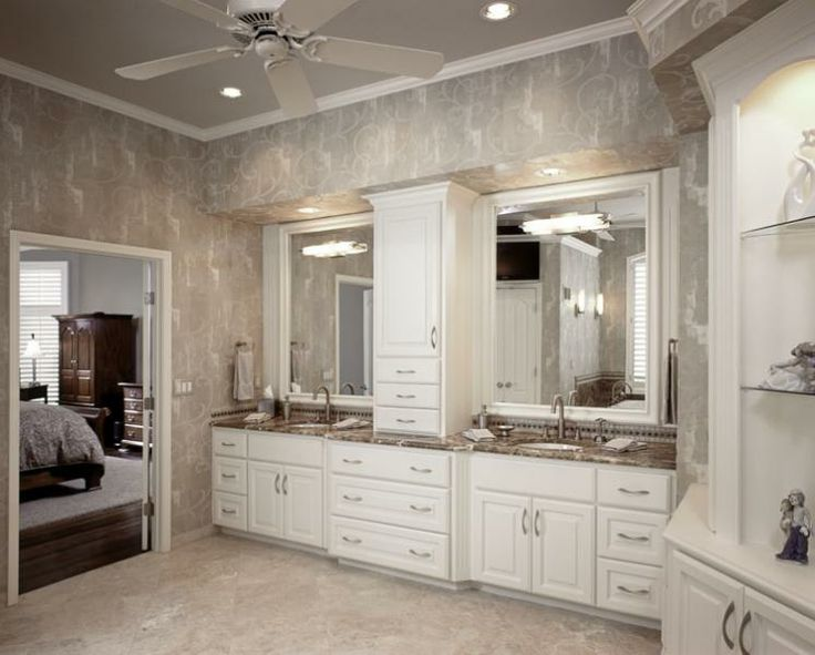 A complete master bathroom remodel in this Leawood home dating from the  early 1990's. See