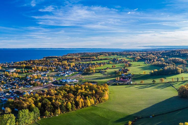 Aerial autumn photo session in Hjo Sweden