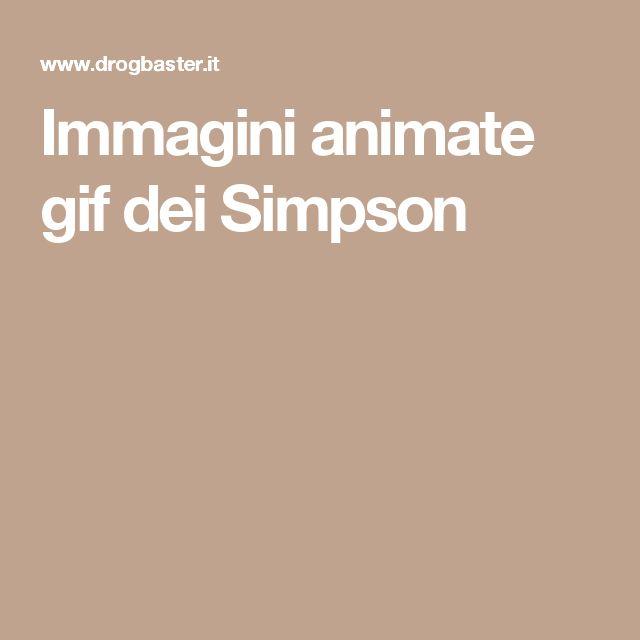 Immagini animate gif dei Simpson