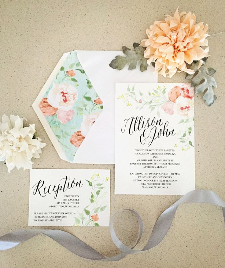 wedding invitations divas%0A Today is the day I get to share my first wedding of Allison and John got  married today in a romantic ceremony in a u