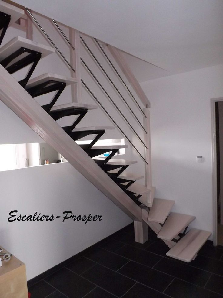escalier 1 4 tournant m tiss limons droit limon m tiss en fr ne naturel blanchie avec. Black Bedroom Furniture Sets. Home Design Ideas