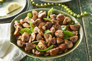 Mushroom and Snow Pea Sauté recipe