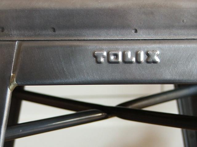 "Tolix Stuhltyp: ""Tabouret H65"" - Material : Stahl - Farbe: Metall klar lackiert"