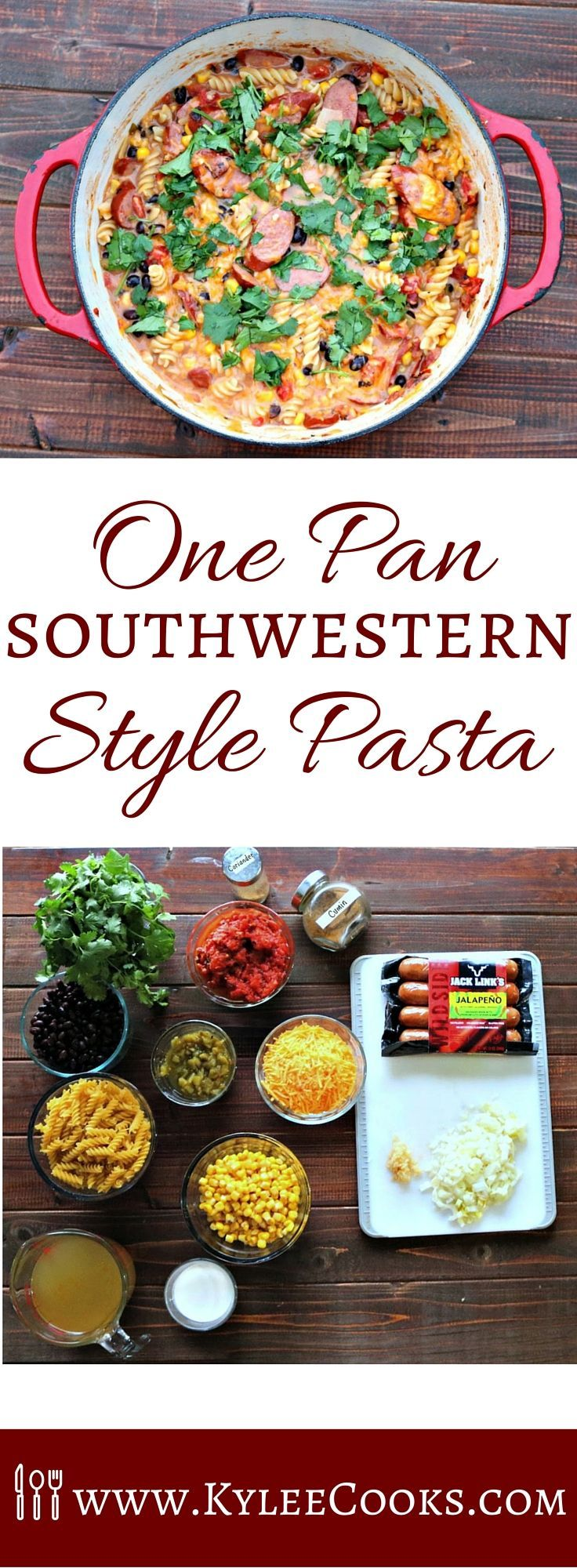 Tired of dull flavorless weeknight meals? How about a bold, flavorful, dinner…. from the wild side?  This one pan southwestern style pasta will have you fighting your family for the leftovers.