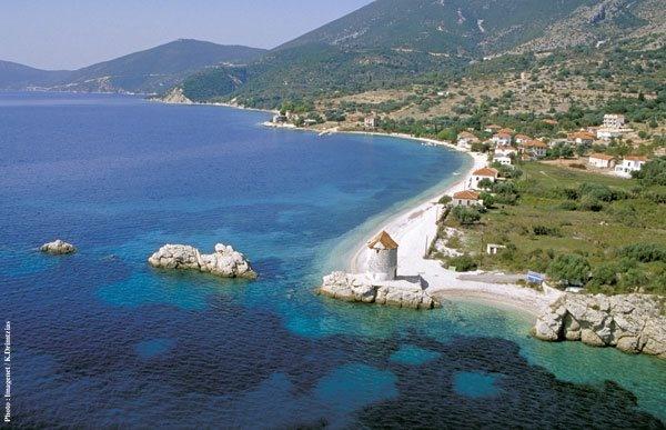 The start of the Kalamos to Kastos Island crossing