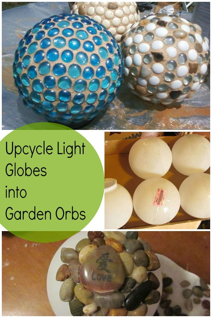 Upcycle light globes from Thrift Stores, etc., into beautiful garden globes.