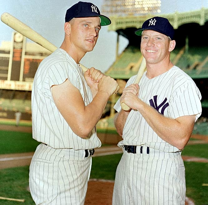 Roger Maris and Mickey Mantle (1961) I had Roger Maris on one of my flights. He asked me to dinner.