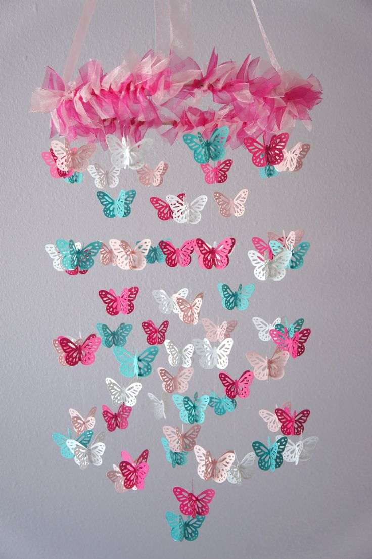 Diy butterfly mobile butterfly chandelier mobile - Sweet Butterfly Mobile