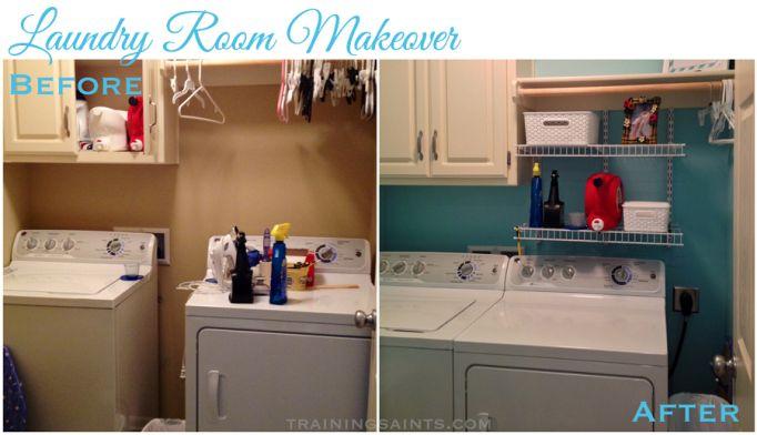 Laundry Room Makeover | TrainingSaints.com