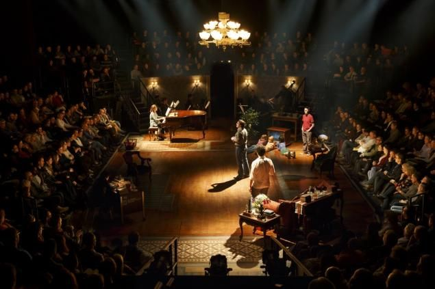 """Fun Home"" is performed in the round on Broadway."