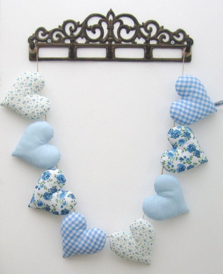 Blue Heart Garland - £20  www.facebook.com/mellasmakings