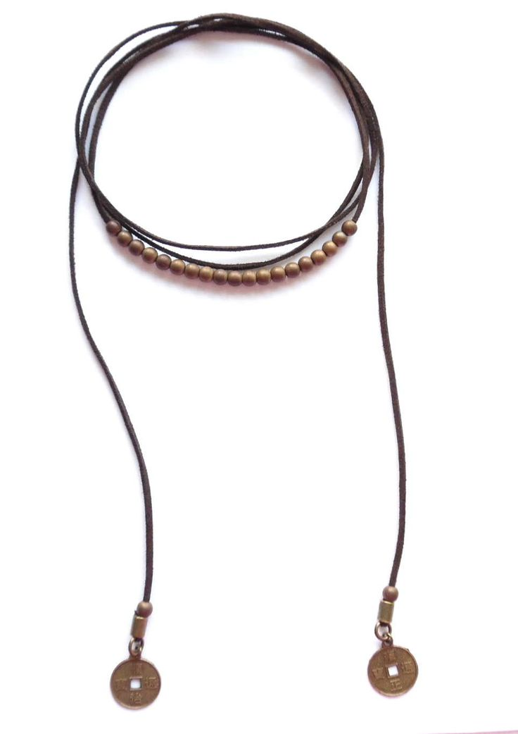 Wrap halsband med hematit