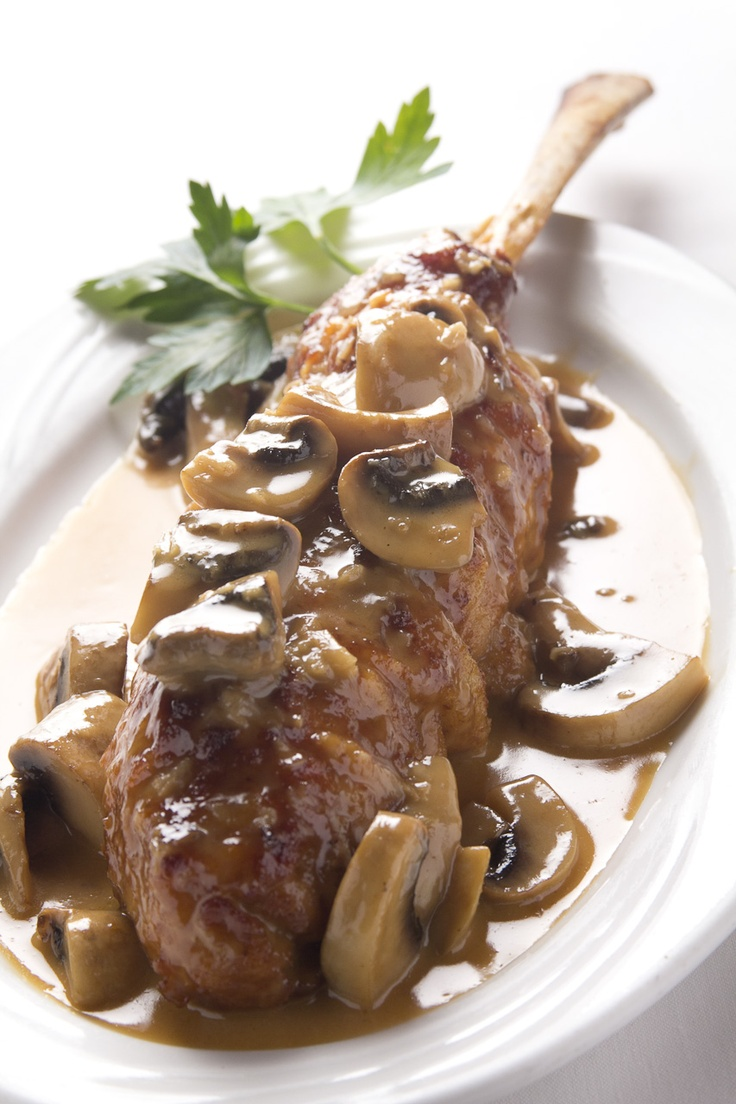Veal with mushrooms &  marsala wine