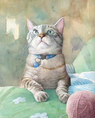 Ryoyu Fukui...cats and wool, bliss :)