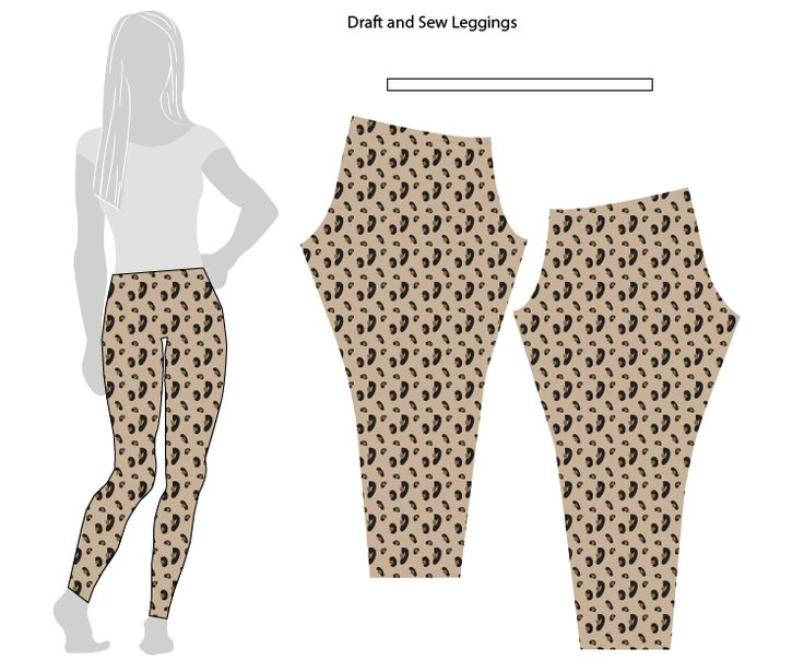 Draft and Sew Leggings One Little Minute Blog Great Simple Tutorial 09 Drafting and Sewing Leggings // Stretch Yourself