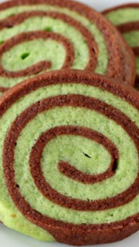 Mint Chocolate Pinwheel Cookies ~ They are  fun and festive plus they're surprisingly easy to make!