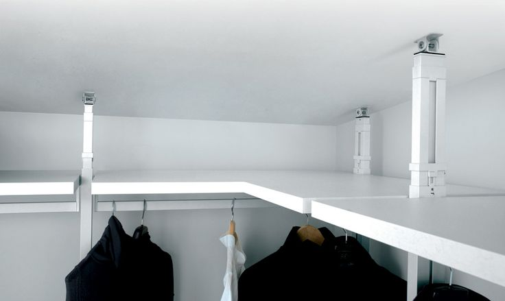 corner walk-in wardrobe and sloped ceiling, purchasable directly from the factory.