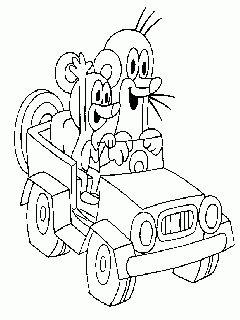 obr. 269 - omalovánky Krtek a myška