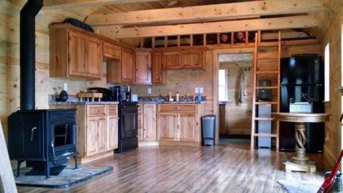 Cabin Built In To 14x40 Lofted Barn By Old Hickory Sheds Idaho Falls Old Hickory Sheds Lofted Barn Cabin Tiny House Cabin