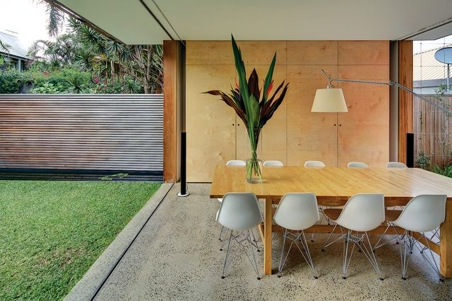 The highly organized plan allows the house to flow seamlessly from front to back.