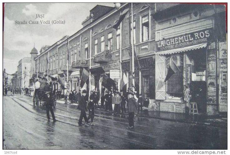 "Strada ""Cuza-Voda"" (Golia), 1910, Iasi, Romania"