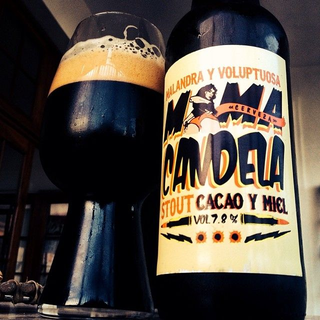 Mama Candela Stout & the stout glass - great pic from @jacastillopou. #stout #craftbeer