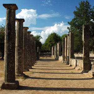 Olympia, Greece.  http://www.worldheritagesite.org/sites/olympia.html