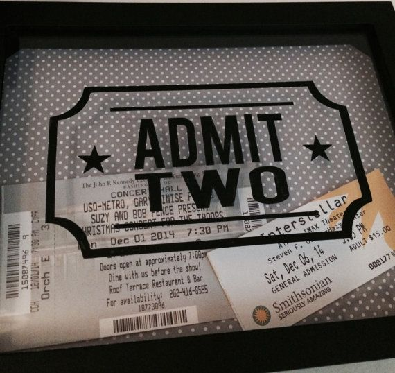 Admit Two 6 Wide/3.5 Tall Vinyl Decal ONLY by LittleLostButtonDC