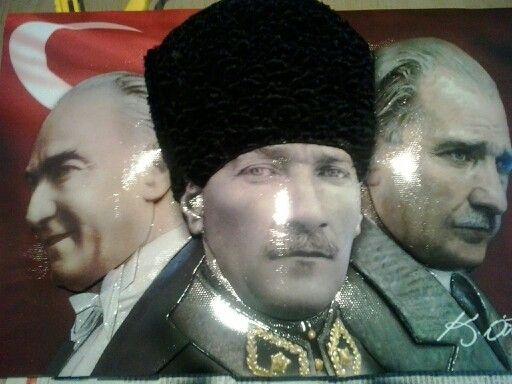 Papertole-kağıt rölyef-Atatürk