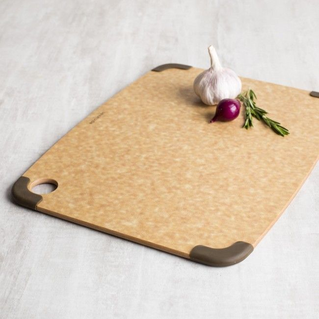 Cool and contemporary Epicurean Eco Plastic Cutting Boards are environmentally friendly and dishwasher-safe. Made from post-consumer recycled plastic milk jugs - helping satisfy your appetite for sustainable living without compromising quality and style.
