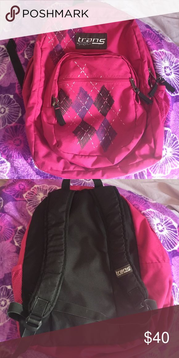 Pink jansport backpack Heavy use but still in great shape! Best brand I ever had. I got a new one because I don't like pink anymore. You will get great use out of it. Jansport Bags Backpacks