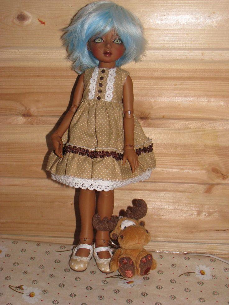 Cotton dress  for YoSD dolls LittleFee,BID,Soom tiny by NatZayShop on Etsy