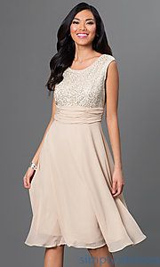 Shop mother-of-the-bride dresses and semi-formal dresses at Simply Dresses. Beautiful beaded-neckline party dresses with jackets for formals.