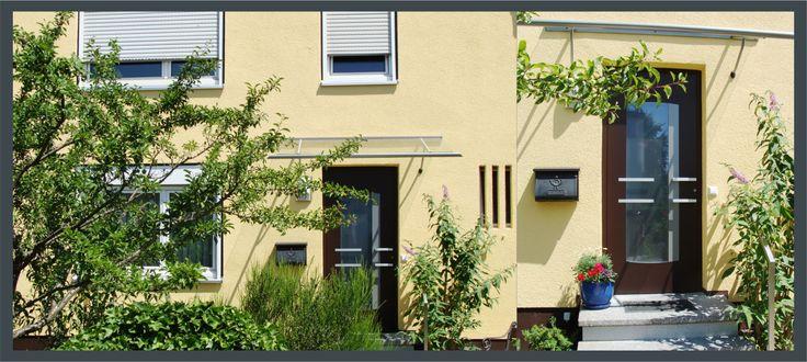 Reihenhäuser individuell gestalten - eine riesige Auswahl an Haustüren macht dies möglich.