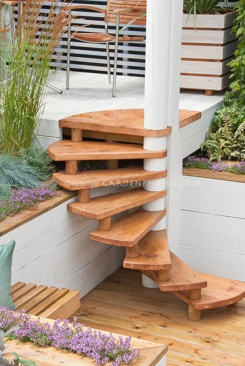 33 best images about wooden steps on pinterest wooden for Hardwood outdoor decking
