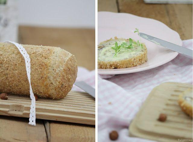 Tulpentag: Brot im Glas mit Haferflocken und Haselnüssen