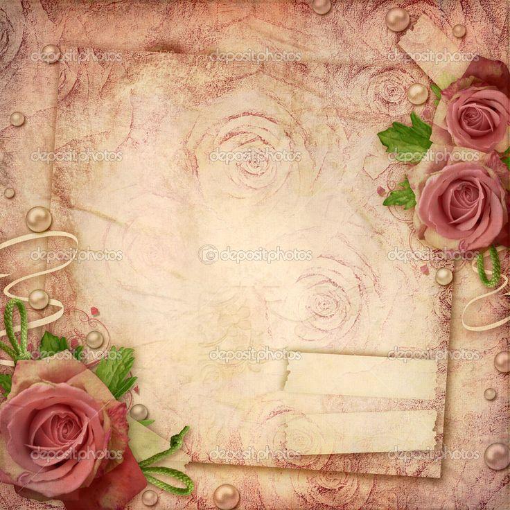 Vintage Roses Background - Google'da Ara